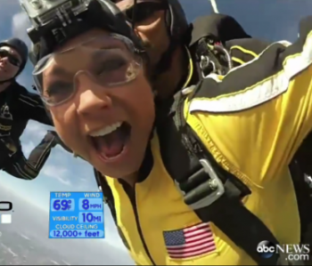 Ginger Zee Skydiving!